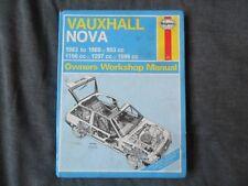 vauxhall nova haynes car service repair manuals ebay rh ebay ie Haynes Repair Manual 1987 Dodge Ram 100 Vehicle Repair Manuals
