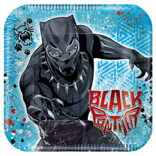 BLACK PANTHER LARGE PAPER PLATES (8) ~ BIrthday Party Supplies Dinner Luncheon