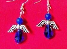 ANGEL EARRINGS Sapphire BLUE Guardian Faith Drop NEW HANDMADE Ships FREE to USA