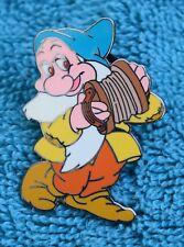 Disneyland Snow White Bashful Playing Accordion Pin - Retired Disney Pins