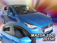 DMA23166 Mazda 2 5 puertas hatchback 2014-Up desviadores 4pc Heko teñida de viento