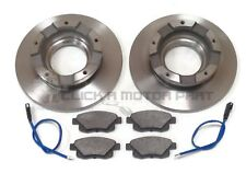 FORD TRANSIT 280 300 330 350 06-13 REAR 2 BRAKE DISCS & PADS FWD CHECK LISTING