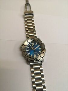 WATCH STRAP BRACELET FOR SEIKO MONSTER DIVERS WATCH 20mm  ( watch NOT included)