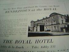 ephemera 1961 advert royal hotel ashby de la zouch