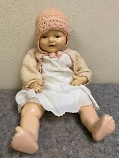 """Antique E.I.H. Co 21"""" Doll-Sleepy Eyes-Dimples-Drinks?-Full y Clothed"""