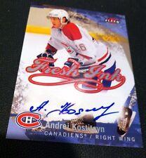 ANDREI KOSTITSYN 2007-08 Ultra Fleer Hockey Fresh Ink  AUTOGRAPH Canadiens AUTO