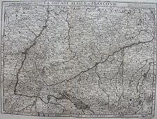 Carte de LA SOUABE ALSACE ET FRANCONIE. A Paris chez Mr de Beaurin. 18 ème