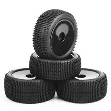 1:10 Buggy Car 4X Front&Rear Rubber Tires Tyre & Wheel Rims 12mm Hex For HSP RC
