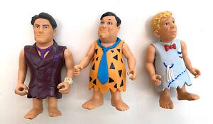 The Flintstones Vintage Figures Bundle X3 Toys Fred Barney 90s Collectable