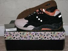 Feature x Saucony G9 Shadow 6 High Roller Black Mens Size 10 DS NEW! S70183-1