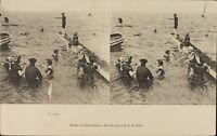 Francia Bagnante e Bagnanti, Stereo Cartolina Héliotypie Ca 1920