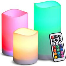 3x Flameless LED Tea Light Candles Battery Operated Wedding Party Home Room Deco