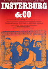 Insterburg & Co ORIGINAL A1 Konzertplakat 1970 GEROLLT Karl Dall Pop-Cabaret