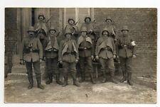 Foto Soldaten in Uniform mit Stahlhelm u. Handgranatenbeutel Sturmtrupp WW1