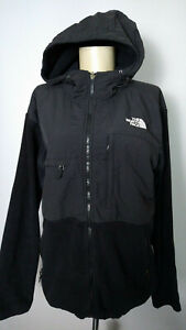 The North Face Hooded Black Denali Fleece Jacket Mens M