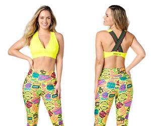 Zumba Pop Bra - Caution Yellow ~ XS, Small, Medium, Large, XL, XXL ~ New!