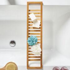 Wooden Bamboo Slimline Luxury Bath Tub Caddy Bridge Tray - Bathtub Storage Shelf