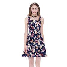 Cotton Square Neck Empire line Floral Dresses for Women