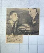 1949 Two Champions Joe Louis And Jack Dempsey Met In Washington