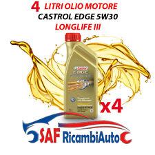 4 LITRI OLIO MOTORE CASTROL EDGE TITANIUM FST LONGLIFE III 5W30 LL TAGLIANDO VW