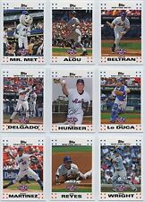 2007 TOPPS OPENING DAY New York Mets Team Set (10 Cards) - NM/MT