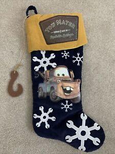 Disney Pixar Cars Tow Mater Blue Christmas Stocking