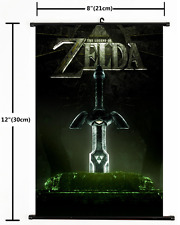 Hot Nintendo Game The Legend Of Zelda Wall Scroll Home Decor cosplay 2139