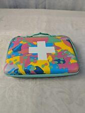 "First Aid Case Hard Bag Zipper Closure Johnson And Johnsonulti Color 9x6.5"" i17"
