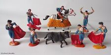 Reamsa or Jecsan - Bullfighting Figure Set, Vintage Plastic Toy Soldiers Matador