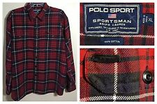 Vintage Polo Sport Ralph Lauren RRL Sportsman Mackinaw Tartan Plaid Shirt Sz XL