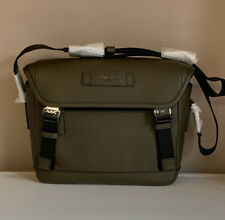 Michael Kors Cooper Bag Bike Messenger Leather Olive NWT £295