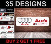 Audi S3 Logo Stemma Banner – PVC Striscione per il Garage Officina Men Cave V2