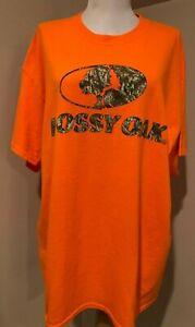 MOSSY OAK Mens Bright Orange Hunting Tee T Shirt NWOT - Sz XL Extra Large
