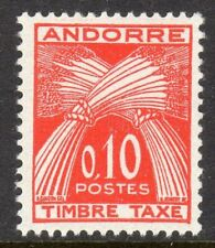 Andorra, French Administration Scott #J43 VF MNH 1961 10 C Postage Due