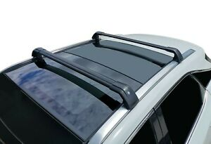 Alloy Roof Rack Cross Bar for Hyundai Santa Fe DM 2013-18 Black Lockable