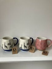 More details for socca giraffes mugs x 3.brand new.-2 white and blue.- and 1 pink