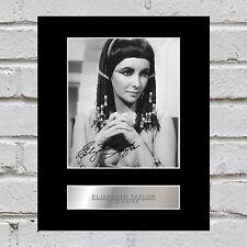 Elizabeth Taylor Signed Mounted Photo Display Cleopatra