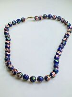 Cloisonne Blue Enamel Necklace