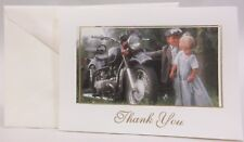 50 Ivory Young Sweethearts Kids with Motorcycle Thank You Cards & Envelopes 5021