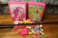 Huge Barbie Lot Cases, Clothes, Accessories, Shoes, Babysitter Skipper Babies
