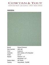 Manuel Canovas Geometric Upholstery Fabric- Madera/Turquoise 0.85 yd (4831-08)