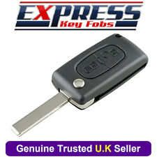 Peugeot 2 Button Replacement Remote Key Fob Case Fits 207 307 308 807 3008 5008