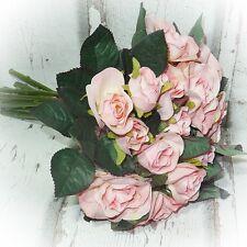 Rosen Strauß 27 cm rosa- künstliche Blumen Blume Kunstblumen Kunstblume