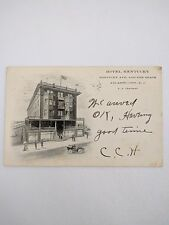 1907 Postcard Hotel Kentucky Kentucky Ave Beach Atlantic City N.J. F.A. Chapman