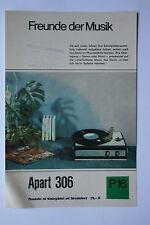 Sammlungsauflösung altes Prospekt Phonokoffer Apart 306 P16 !!!