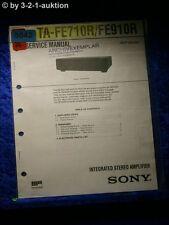 Sony Service Manual TA FE710R / FE910R Amplifier  (#5042)