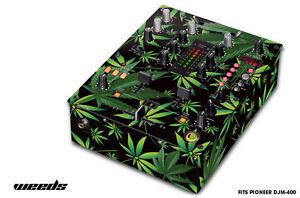 Skin Decal Wrap for PIONEER DJM-400 DJ Mixer CD Pro Audio DJM400 Parts WEEDS BLK
