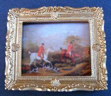 1:12 Échelle Image Imprimé de une Chasse Scène Tumdee Poupées House Miniature 3