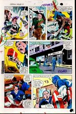 1981 Colan Captain America Annual 5 Marvel Comics color guide art page 18:1980's