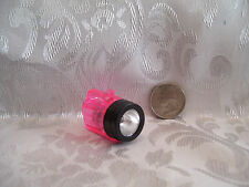 NEW FASHION DOLL SIZE WORKING CAMPING FLASHLIGHT ACCESSORY LIGHT WORKS! PINK